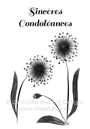 Sympathy - flowers (FR)