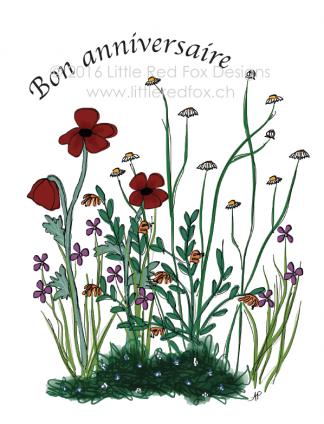 Birthday Wildflowers (FR)
