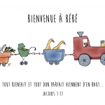 Bébé train verset
